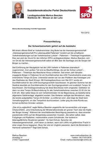 Pressemitteilung - Markus Beecken