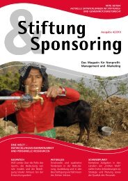 Stiftung & Sponsoring – Das Magazin für ... - Dhamma-Stiftung