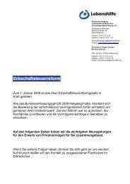 Neuregelungen seit 1.1.2009 - Lebenshilfe Berlin