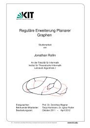 Reguläre Erweiterung Planarer Graphen - Algorithmik I - Karlsruher ...