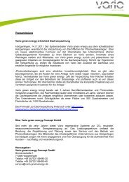 Pressemitteilung Vario green energy erleichtert Dachverpachtung ...