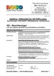 TM Technisches Merkblatt