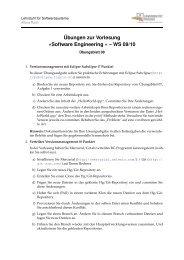 Übungen zur Vorlesung »Software Engineering « – WS 09/10