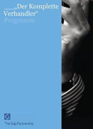 """""""Der Komplette Verhandler"""" Programm - The Gap Partnership"""