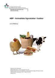 ABP - Animaliska biprodukter i butiker - SLU