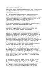 Liebe Freunde der Musik in Lübeck, die Buxtehude-Tage 2013 sind ...