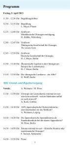 Wissenschaftliches Programm 14. Chirurgisches ... - DGAV - Page 3