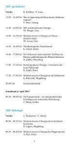 Wissenschaftliches Programm 14. Chirurgisches ... - DGAV - Page 4