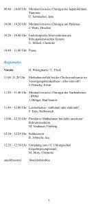 Wissenschaftliches Programm 14. Chirurgisches ... - DGAV - Page 5