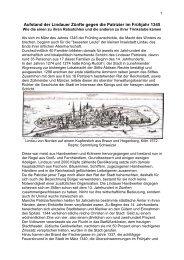 Zunftrevolution in Lindau 1345 - edition inseltor lindau