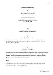 Landeshaushaltsordnung für Baden-Württemberg (LHO) Allgemeine ...
