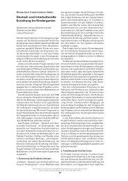 Deutsch und interkulturelle Erziehung im Kindergarten - E&C
