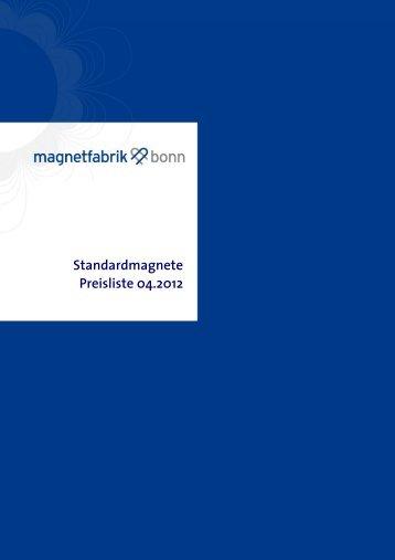 Eine Übersicht über unser Standardprogramm finden Sie hier