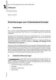 Merkblatt: Zusatz zu Konzept Buvetten und Verkaufsstände