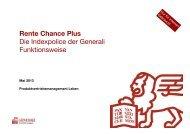 Rente Chance Plus Die Indexpolice der Generali Funktionsweise