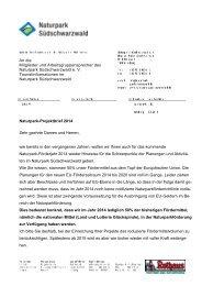 im Projektbrief 2014 ( PDF -Download - Naturpark Südschwarzwald
