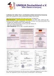 Leitfaden zur Vermessung - Uniqua Deutschland