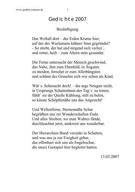 Gedichte 2007