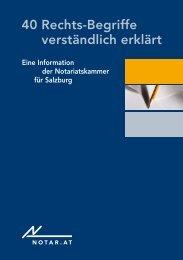 40 Rechtsbegriffe - Notariatskammer Salzburg