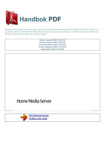 nokia n81 user manual