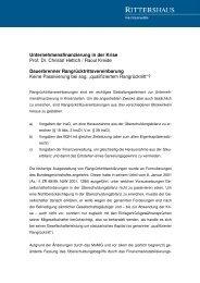 Unternehmensfinanzierung in der Krise Prof. Dr. Christof Hettich ...