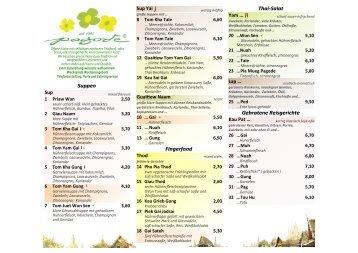 Suppen Fingerfood Thai-Salat Gebratene Reisgerichte - Pagode