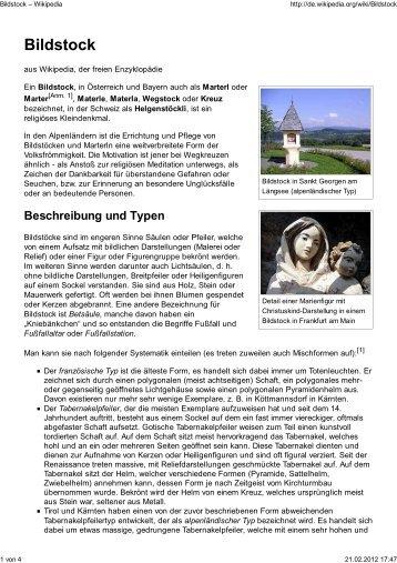 Bildstock – Wikipedia - Denksteine-Schoenbuch.de