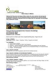 zum Angebot - Destinasia GmbH