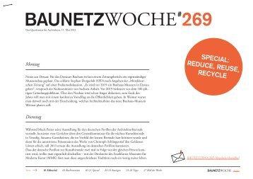 Baunetzwoche#269 – Reduce Reuse Recycle