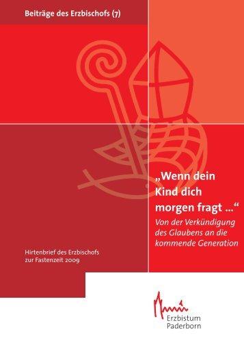Fastenhirtenbrief 2009 Erzbischof Becker - Erzbistum Paderborn