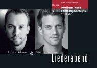 Liederabend - podium NMS