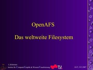 OpenAFS (PDF) - Die Grazer Linux Tage