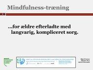 Mindfulness-træning (MBCT)