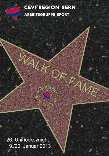 WALK OF FAME - Cevi Region Bern