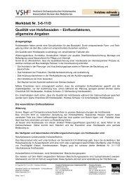 Qualität von Holzfassaden - VSH Verband Schweizerischer ...