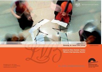 Programmheft 26.01.2010 - Beethoven-Haus Bonn