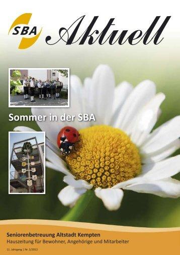 Sommer in der SBA - Seniorenbetreuung Altstadt der Prot ...