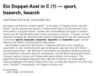 Ein Doppel-Axel in C (1) -- qsort, bsearch, lsearch
