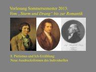 """Vom """"Sturm und Drang"""" zur Romantik 8 - Heinrich Detering"""