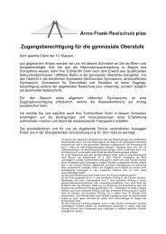 Zugangsberechtigung für die gymnasiale Oberstufe - Anne-Frank ...