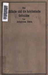Die biblische und die babylonische Gottesidee : die israelitische ...