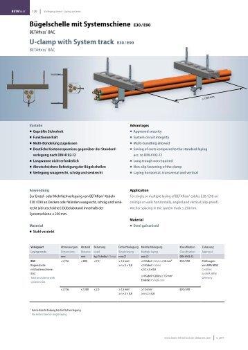 U-clamp with System track E30 / E90 - LEONI Infrastructure & Datacom