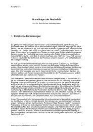 Grundfragen der Neutralität 1. Einleitende Bemerkungen - Neue ...