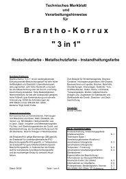 Technisches Merkblatt für Brantho-Korrux