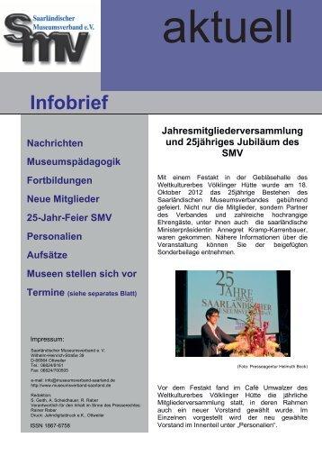 Infobrief 1/2013 als PDF - Saarländischer Museumsverband eV