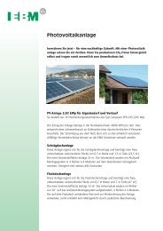 Produktflyer Photovoltaikanlage - EBM