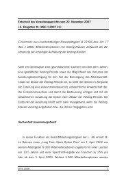 Entscheid des Verwaltungsgerichts vom 22 ... - Kanton Schwyz