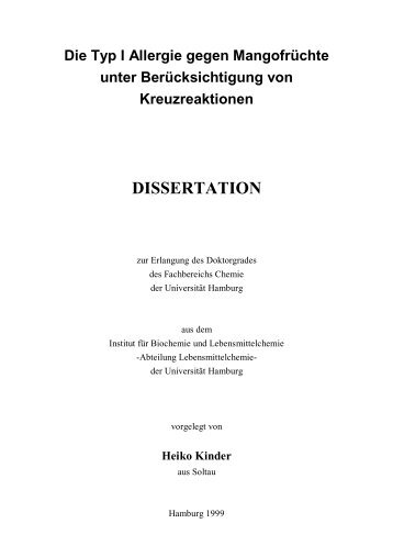 DISSERTATION - Chemie - Universität Hamburg