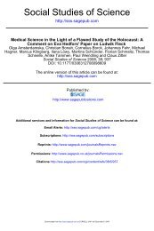 Social Studies of Science - Collegium Helveticum - ETH Zürich