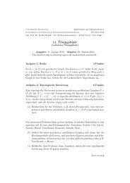 11. Übungsblatt - Fachbereich Informatik & Informationswissenschaft ...